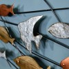 Close-up of the Swimming Fish on the Wall Art