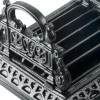close up of detail on cast iron boot scraper