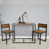 Modern Industrial Style Table & Chair Set in Use in the House