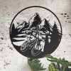 Motorcross Circular Black Wall Art