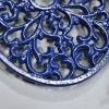 Blue Cast Iron Oval Trivet Detailing
