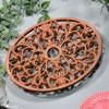 Rustic Cast Iron Oval Trivet