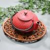 Rustic Cast Iron Oval Trivet & Teapot