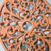 Rustic Cast Iron Oval Trivet Details