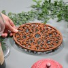 Rustic Cast Iron Oval Trivet to Scale
