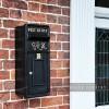 """Oakhampton"" Slim King George Post Box In Situ by the Front Door"