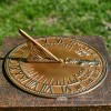 Old Father Time Sundial Finished in an Antique Brass