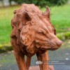Wolf Sculpture Finished in a Cast Iron