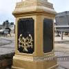 "Base of the ""Lady Hestia"" Cast Iron Statue Column"