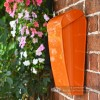 Orange Wall Mounted Post and Parcel Box