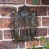 Ornate Wall Mounted Sundial Finished in Antique Brass