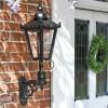 Outdoor garden wall lantern by front door