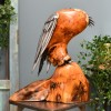 side View of the Polished Wooden Owl