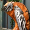 Owl Sculpture Crated From Polished Wood & Metal