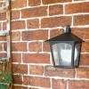 Oxford Traditional Flush Outdoor Half Wall Mounted Lantern