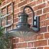 Railway Style Large Wall Light in Use on the Front of  a House