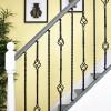 Set of 2 Grosvenor Rope Twist Stair Spindles - Pattern 1