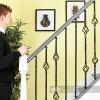 "Set of 4 ""Grosvenor"" Rope Twist Stair Spindles - Pattern 3 Scale"