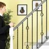 "Set of 3 ""Grosvenor"" Rope Twist Stair Spindles - Pattern 4 - Scale"
