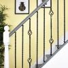 """Set of 3 """"Grosvenor"""" Rope Twist Stair Spindles - Pattern 4"""