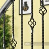 """Set of 3 """"Grosvenor"""" Rope Twist Stair Spindles - Pattern 5 Close Up"""