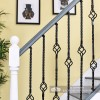 Black Traditional Basket Stair Spindles on Stair Case