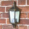 Traditional Flush Wall Light Finishe din a Brushed Gold Finish