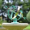 Verdigris & Brass Profatius Armillary on Plinth