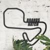 Brands Hatch Motor Racing Circuit Wall Art in Situ