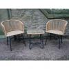 Rattan Table & Chair Set Outside