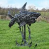 Shark Sculpture Created Out of Recycled Rubber Car Tyre