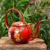 Red Narrowboat Style Watering Can