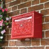 Red Ornate Wall Mounted Post Box