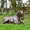 Resting Foal Garden Horse Sculpture in Situ Outdoors