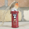 Robin on Postbox Christmas Tree Decoration in the Home