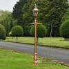 Rose Gold Finish Victorian Lamp Post With Copper Lantern