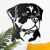 Rottweiler Wall Art in Situ on a White Wall