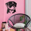 Rottweiler Wall Art in Situ on a Pink Wall