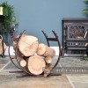 Rustic Blacksmith Log holder in Situ