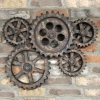 Cogs Wall Art Finished in a Rustic Finish