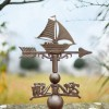 Rustic Sail Boat Weathervane Topper