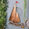 Rustic Sailing Boat Wall Art on a Blue Wall