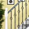 Black Iron Double Basket Stair Spindle Fitted In Stair Case