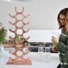 'Tree' Copper Wine Rack in Kitchen Setting