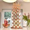Copper 'Tree' 21 Bottle Wine Rack in Kitchen