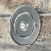 Satin Chrome Sovereign Park Classic Bell Push Fitted To Brick Wall