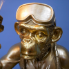 Close-up of the Face of the Scuba Diving Gold Monkey Table Light