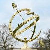 Serpent Armillary in Use Outdoors in the Garden
