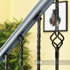Set of 2 Grosvenor Rope Twist Stair Spindles - Pattern 1 Close Up