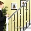 Set of 2 Grosvenor Rope Twist Stair Spindles - Pattern 1 Scale